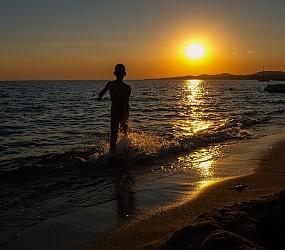 Sithonia III: il tramonto di una bella vacanza greca