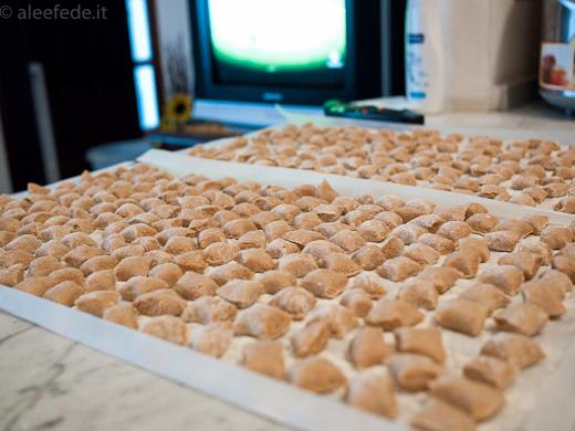 Gnocchi con la farina di castagne