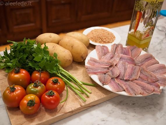 Tortino di filetti di sardine e patate al forno