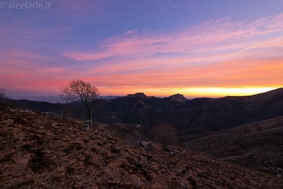 Serata solitaria alle pendici di Monte Croce