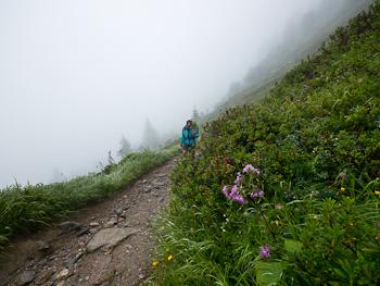 trient tmb pioggia trekking