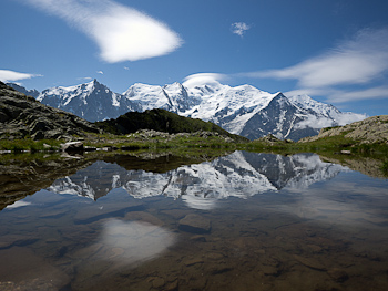 riflesso monte bianco tmb