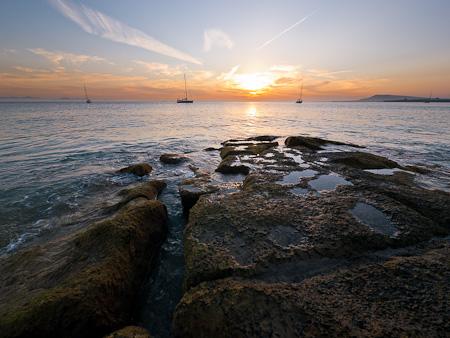 playa pozo papagayo tramonto