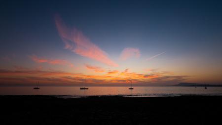 playa pozo papagaio tramonto