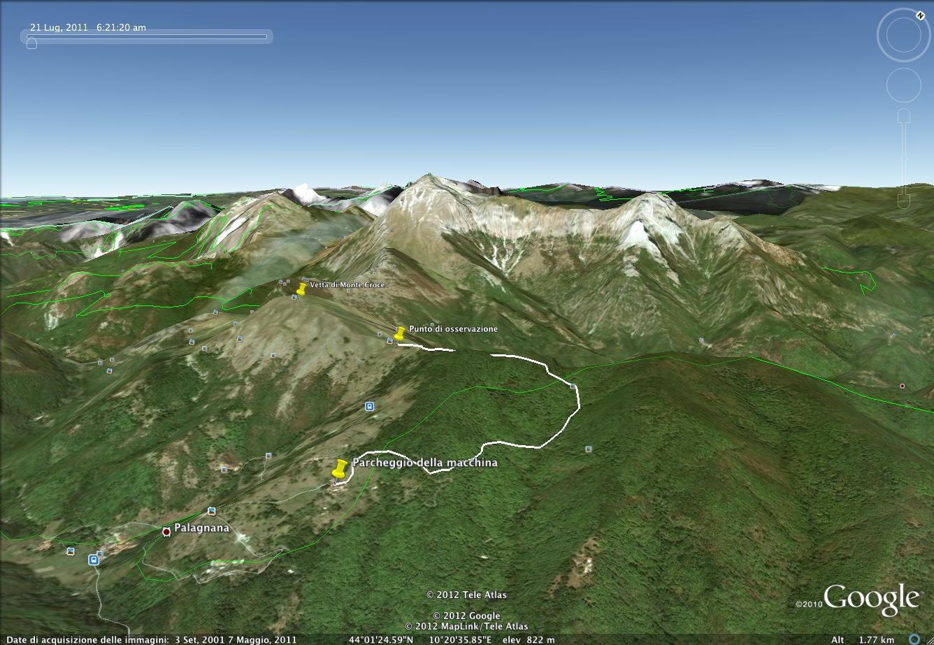 google earth monte croce