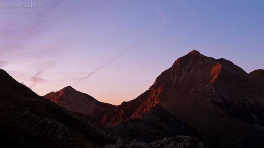 pania croce corchia tramonto