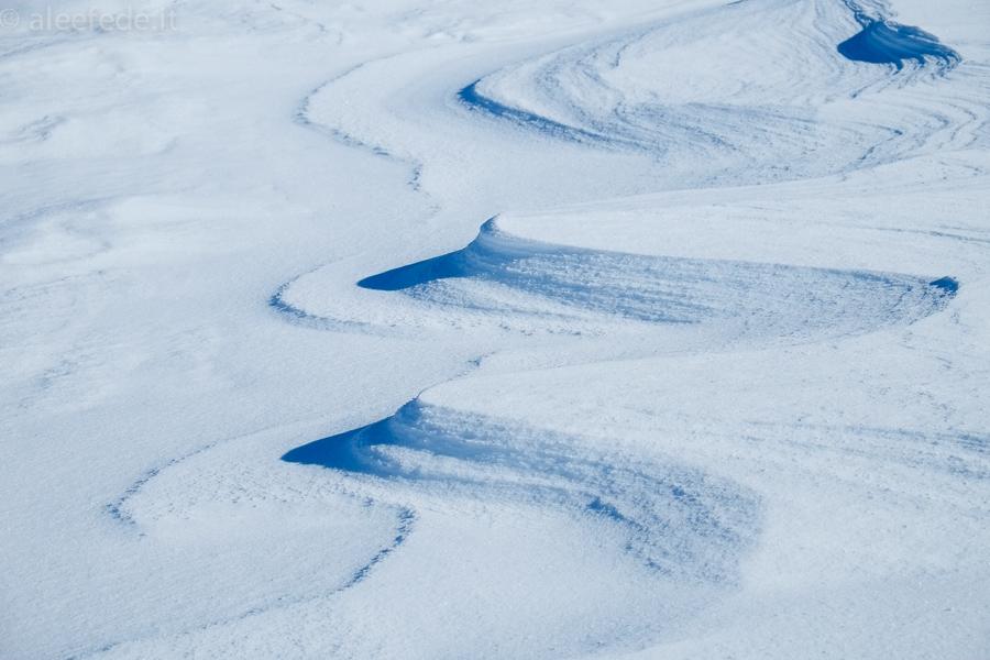 vento neve ciaspole