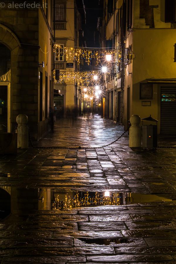 luci natalizie lucca notte passeggiata
