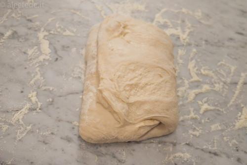pieghe impasto no knead
